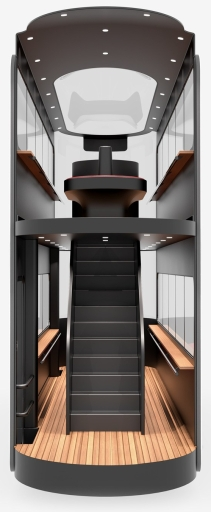 Andrea Ponti Driverless Tram interior
