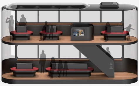 Andrea Ponti Driverless Tram interior seating