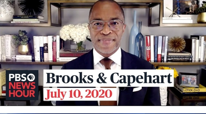 "Political News: ""Brooks & Capehart"" On Covid-19 Response (PBS Video)"
