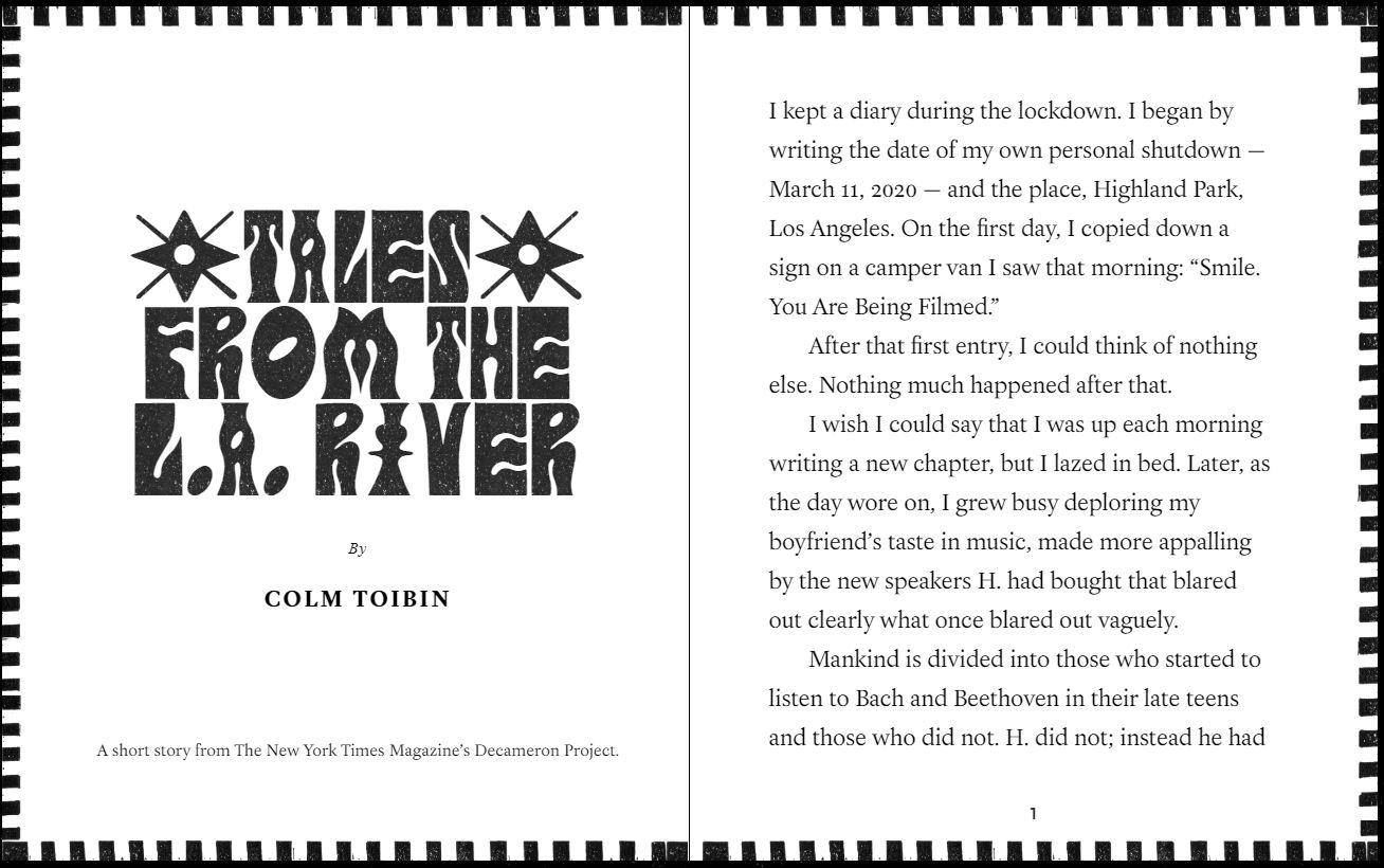 Colm Toibin - Tales From The L.A. River - New York Times - July 10 2020