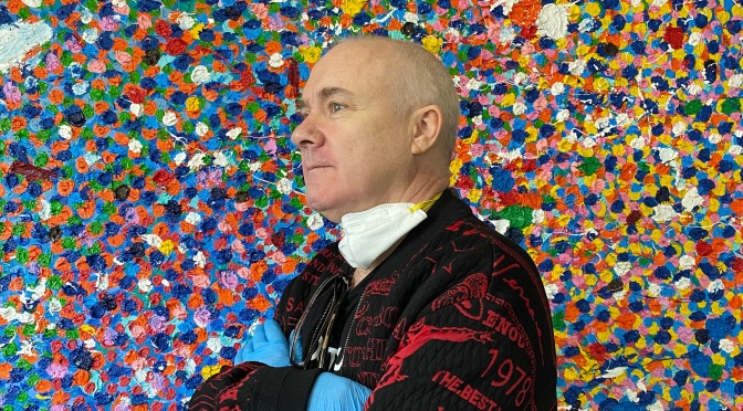 "Art Profile: 55-Year Old British Painter Damien Hirst – ""Veil Paintings"""
