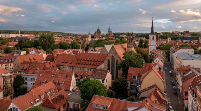 "New Aerial Travel Videos: ""Augustiner Kloster"" In Erfurt, Germany (2020)"