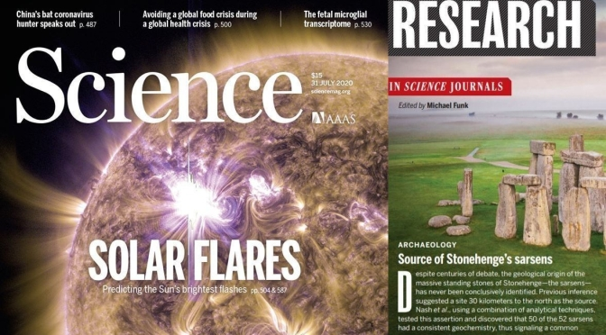TOP JOURNALS: RESEARCH HIGHLIGHTS FROM SCIENCE MAGAZINE (JULY 31, 2020)
