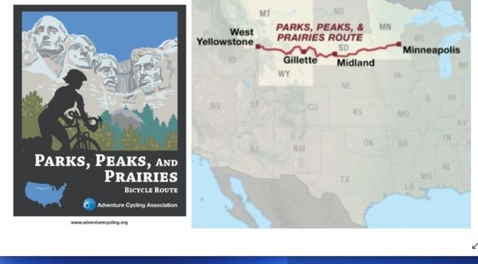 """New Adventures: """"Parks, Peaks & Prairies Bicycle Route"""" – Yellowstone To Minneapolis (1,374 Miles)"""