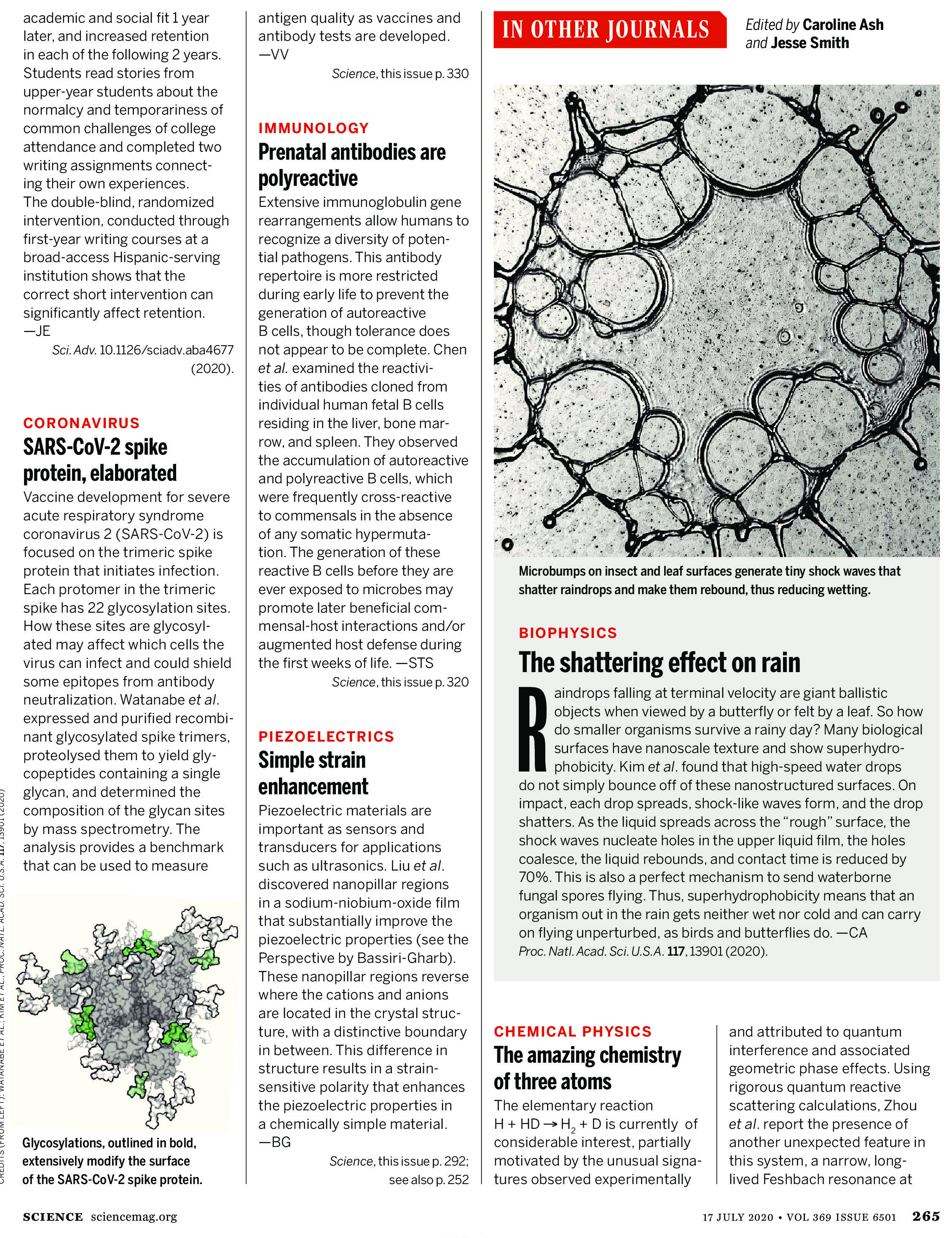 Science Magazine Research Highlights July 17 2020