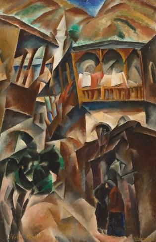 Vera Rockline (1896-1934), Vue de Tiflis, 1919.
