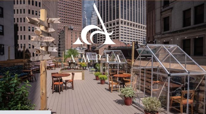 "New Restaurants: ""Ampia Rooftop NYC"" – ""Sanitary, Social Distance Dining"""