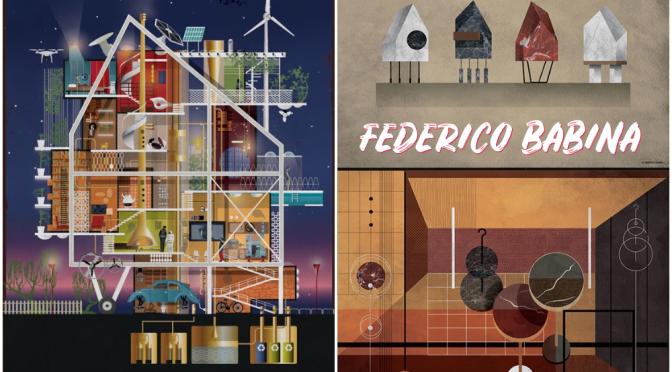 "Profiles: Italian Architect & Illustrator Federico Babina – ""Abstract Stories"""