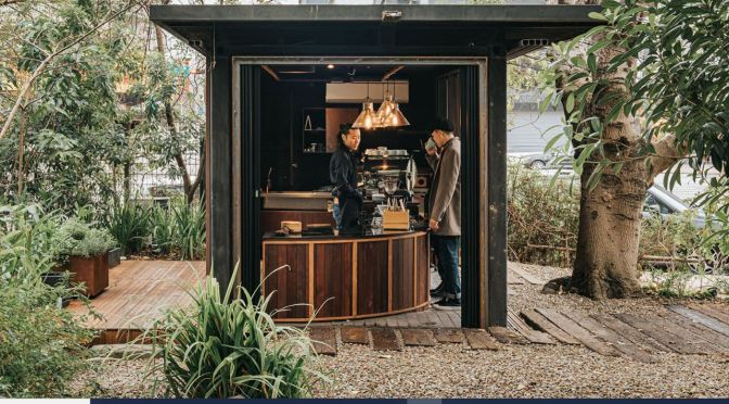 Urban Design: Shipping Container Turned Into Rustic Cafe In Taiwan