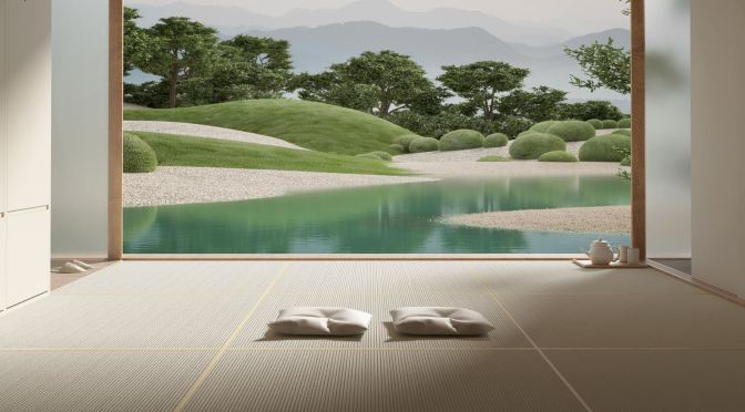 "Top CGI Design: ""Japanese Garden"" By 'Six N. Five Studio' In Barcelona"
