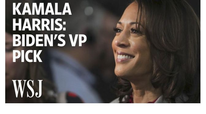Political News: Joe Biden Selects Kamala Harris As VP Pick (WSJ Video)