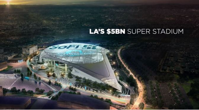 "Sports Architecture: Los Angeles' ""$5 Billion NFL Super Stadium"" (Video)"