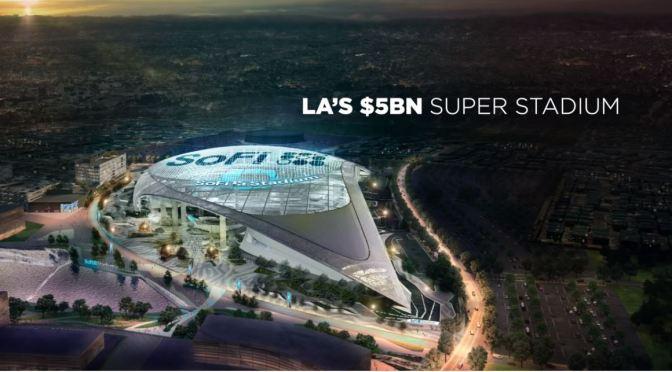 "Sports Architecture: Los Angeles' ""$5 Billion NFL Super Stadium"" (Video)"