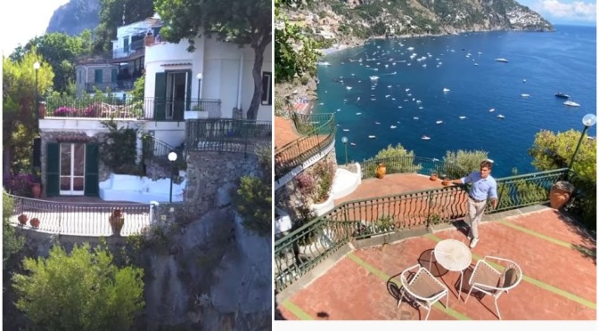 "Italian Home Tours: ""Villa Agave – Positano"" (Video)"