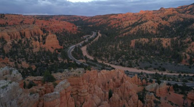 """New Aerial Videos: """"Red Canyon Spring"""" In Utah"""