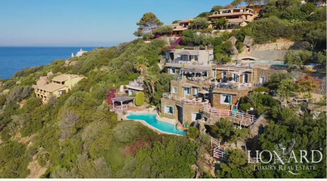 Italian Home Tours: Villa On Cliff In Sardinia (Video)