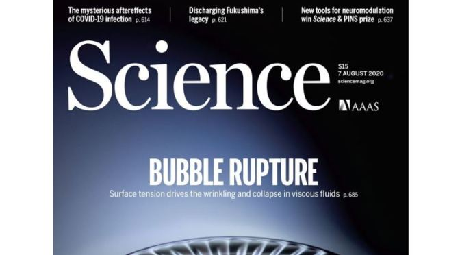 TOP JOURNALS: RESEARCH HIGHLIGHTS FROM SCIENCE MAGAZINE (August 7, 2020)