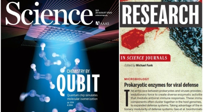 TOP JOURNALS: RESEARCH HIGHLIGHTS FROM SCIENCE MAGAZINE (AUGUST 28, 2020)