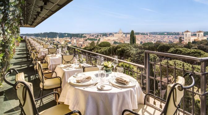 "Top Rooftop Restaurants: The ""Mirabelle"", Hotel Splendide Royal In Rome"