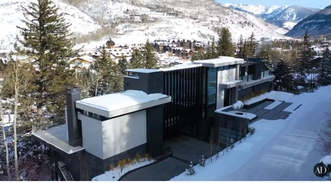 Home Tour Videos: Ultra-Modern Colorado Rocky Mountain Ski Mansion (AD)