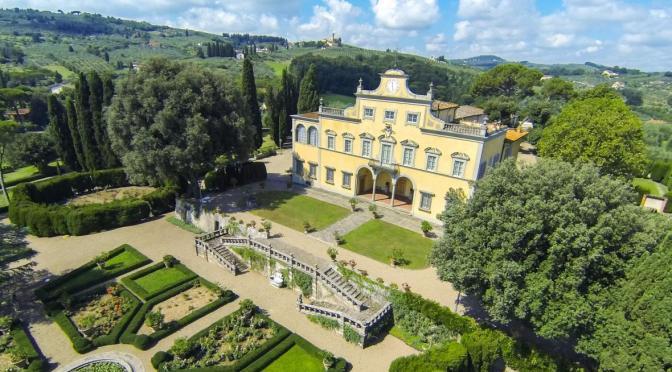 """Italian Estate Video Tour: """"VILLA ANTINORI DI MONTE AGUGLIONI"""" Near Florence"""