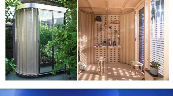"Design: London Architect Boano Prišmontas' ""Prefab Home Office Pod"" (Video)"