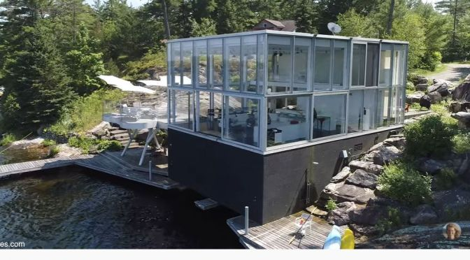 "Top Home Tour Videos: ""Glass House On Stony Lake"" In Canada (2020)"