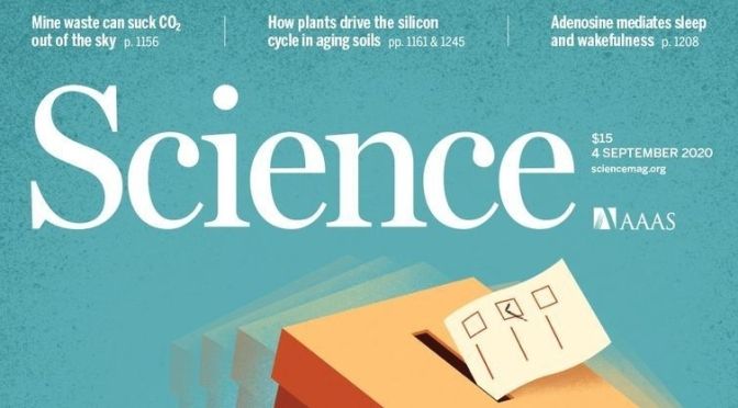 TOP JOURNALS: RESEARCH HIGHLIGHTS FROM SCIENCE MAGAZINE (Sept 4, 2020)