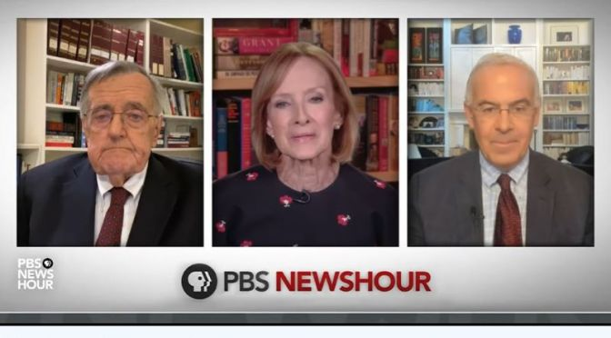 "Political News: ""Shields & Brooks"" On The Stalled Relief Legislation (Video)"