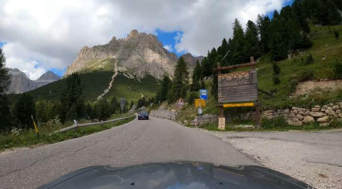 """Top Scenic Drive Videos: The """"Passo Pordoi' In Italy"""