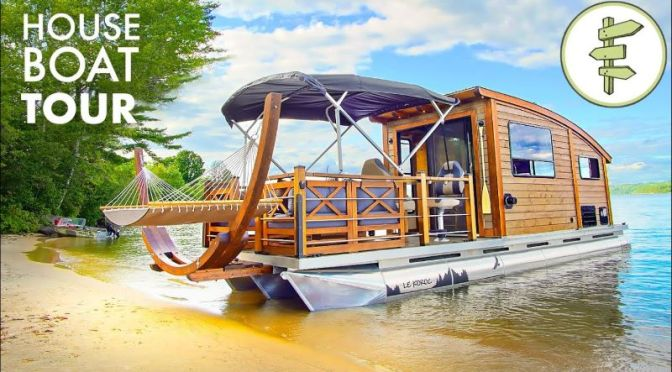 Innovative Boat Tours: '28-Ft Tiny Houseboat' (Video)