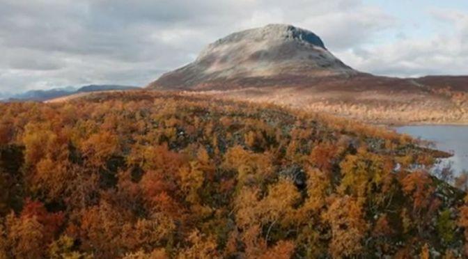 New Aerial Travel Videos: 'Kilpisjärvi, Northwest Finland' Autumn Colors