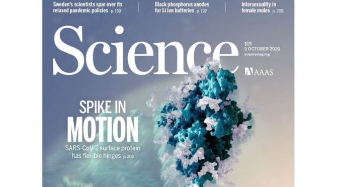 TOP JOURNALS: RESEARCH HIGHLIGHTS FROM SCIENCE MAGAZINE (OCT 9, 2020)