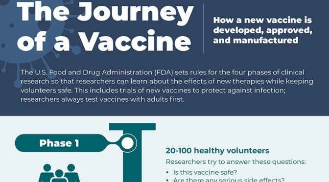Covid-19 Infographic: 'The Journey Of A Vaccine' (NIH)