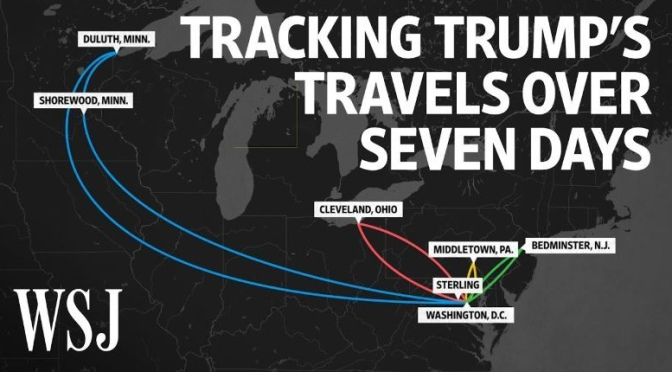 Covid-19 Videos: 'Tracking President Trump's Travels Over Seven Days' (WSJ)