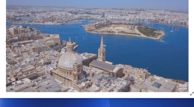 New Aerial Travel Videos: 'Valletta, Malta' (2020)