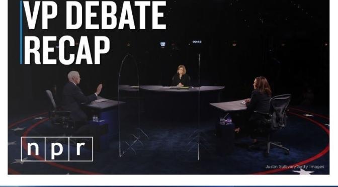 Political News: 'VP Debate' Top Takeaways (NPR Video)