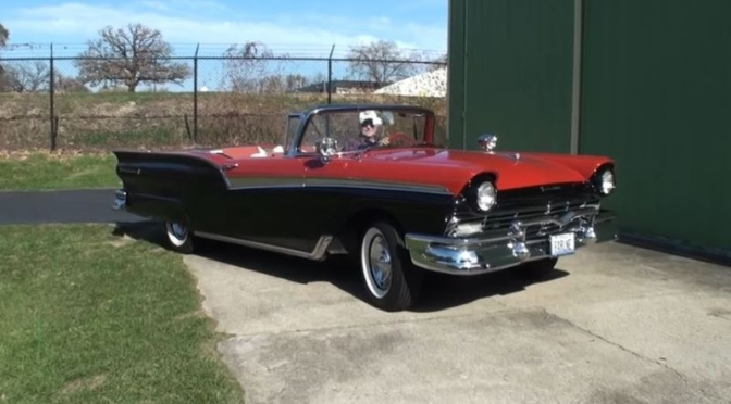 Classic Cars: 1957 Ford Fairlane 500 Skyliner Convertible (Video)