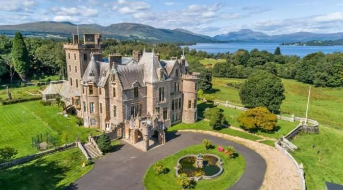 Baronial Castle Tour: 'Auchendennan House' On Loch Lomond, Scotland