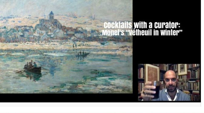 "Cocktails With A Curator: Claude Monet's ""Vétheuil in Winter"" (Frick Video)"