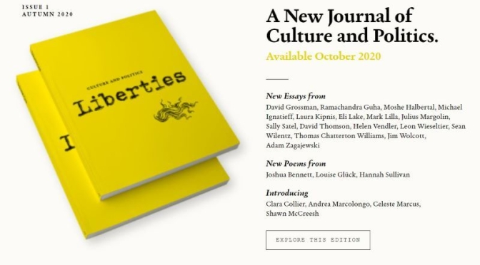 "New Periodical: ""Liberties""  A Journal Of Culture And Politics (Autumn 2020)"