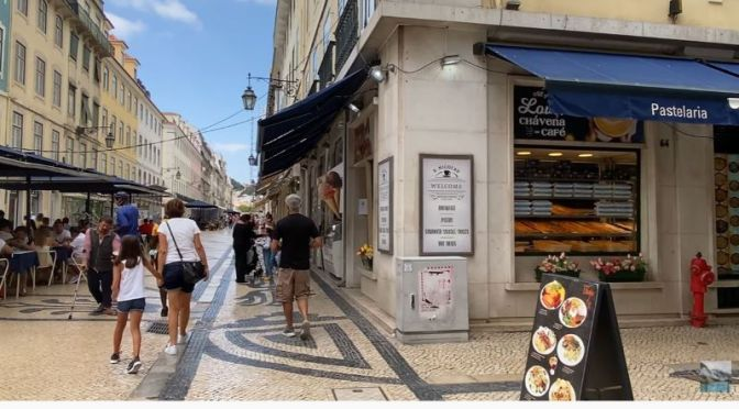 Walking Tour Video: 'Rua Augusta, Lisbon, Portugal'