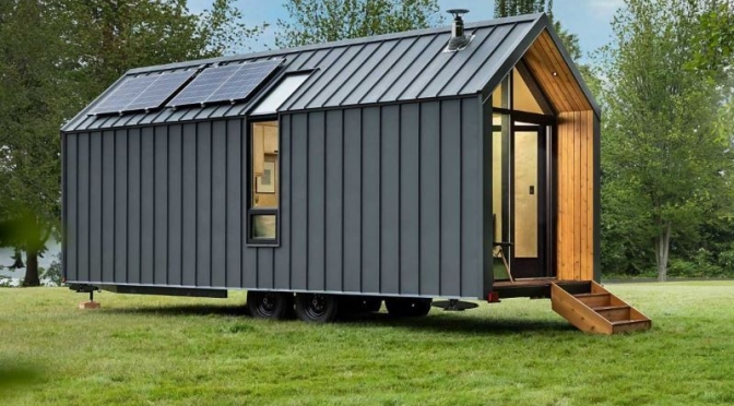 "Mobile Living: Modern Shed – 'The DW' (Dwelling On Wheels) – ""An Amazing Off-Grid Tiny Home"""