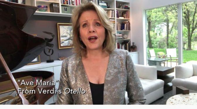 "Opera: Soprano Renée Fleming Sings The ""Ave Maria"", Verdi's ""Otello"""