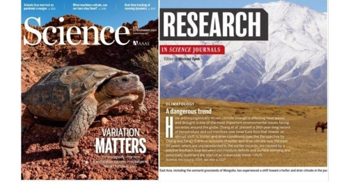 TOP JOURNALS: RESEARCH HIGHLIGHTS FROM SCIENCE MAGAZINE (NOV 27, 2020)