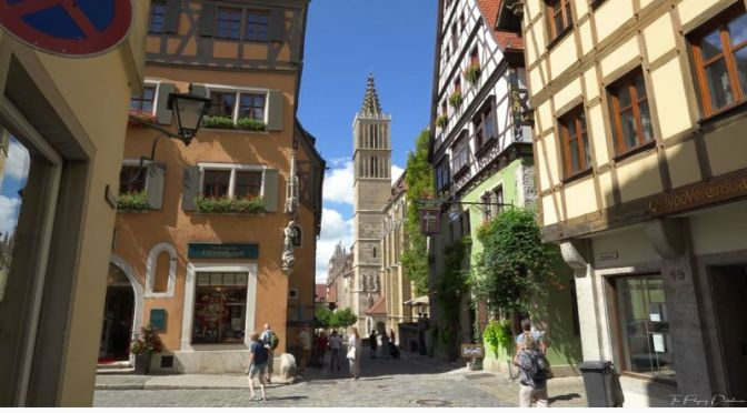 Walking Tour Videos: 'Rothenburg Ob Der Tauber', Bavaria,  Germany