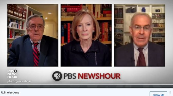 Political News: 'Shields & Brooks' On Trump's Refusal To Concede (PBS)