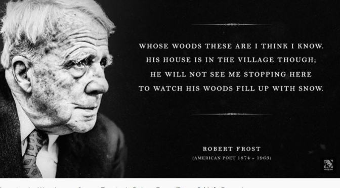 Poetry: Robert Frost's 'Stopping By Woods On A Snowy Evening' (Video)