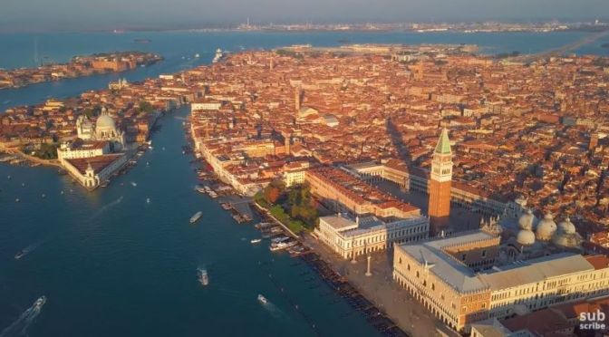 New Aerial Travel Videos: 'Venice – Italy' (2020)