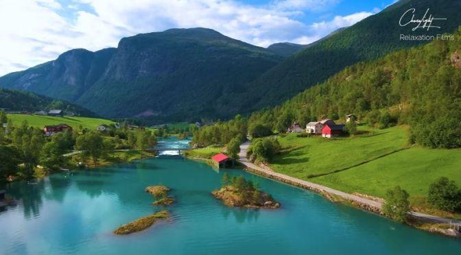 Aerial Travel: 'Lovatnet Lake – Norway' (4K Video)